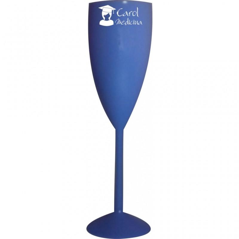 Taça Champagne Azul Cristal. Código 3955 170 Ml