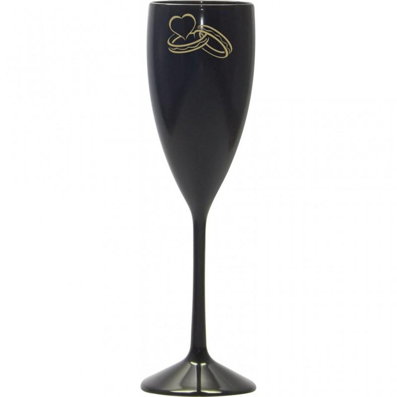 Taça Champagne Preta. Código 3953 170 Ml