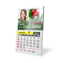 Ímã de Geladeira com Calendário 2017 Personalizada