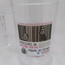 Caneca acrilico 450 Ml Transparente